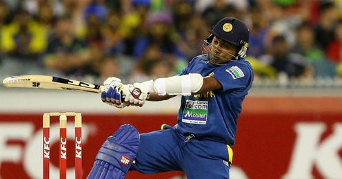 Mahela Jayawardene Sri Lanka batting in the second Twenty20 International against Australia