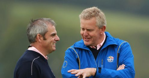 Paul McGinley and Colin Montgomerie: Still good mates