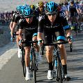 Bradley Wiggins drilling it on the front for Team Sky