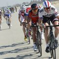There were plenty of splits in the bunch during the day on stage five in Qatar
