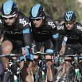 David Lopez, Bradley Wiggins and Sergio Henao were busy all day for Team Sky
