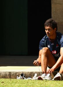 Ben Volavola lacing up boots for Waratahs