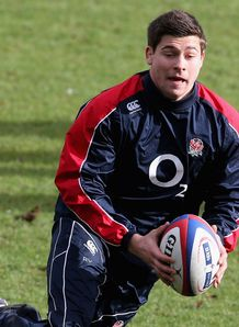 Ben Youngs running at England training