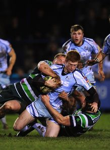 Blues player Rhys Patchell v london irish
