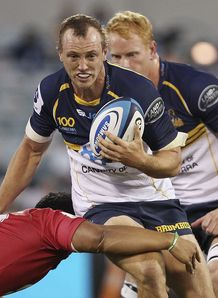 Brumbies back Jesse Mogg on a run