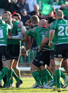 Connacht celebrating a win