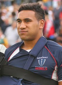 Cooper Vuna injury Rebels v waratahs SR 2013