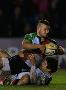 Danny Care scores for Harlequins v Leicester Stoop