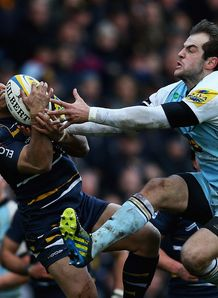 David Lemi and Stephen Myler of Worcester and Northampton