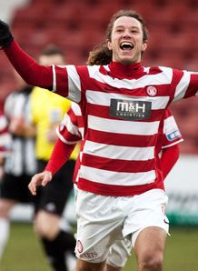 Steven May scored with the last kick as Hamilton grabbed a 2-2 draw at Airdrie