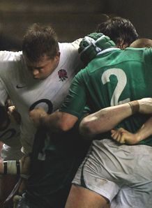 Dylan Hartley scrum v Ireland