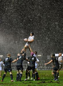 England Saxons and Scotland A line out at Kingston Park