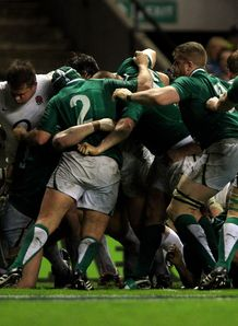 England and Ireland scrum last year