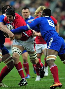France v Wales Ryan Jones run