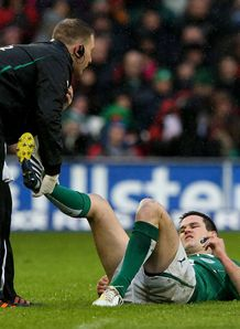 Ireland v England Jonathan Sexton injured