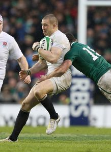 Ireland v England Mike Brown Rob Kearney