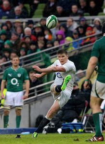Ireland v England Owen Farrell penalty kick