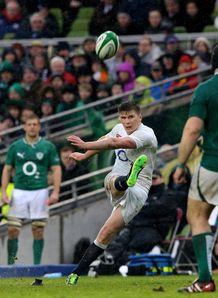 Ireland v England Owen Farrell penalty kick