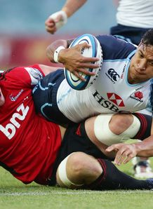 Israel Folau Waratahs v Crusaders trial 2013