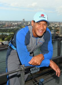 Israel Folau on Sydney Harbour Bridge