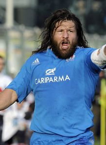 Martin Castrogiovanni of Italy shouts 2012