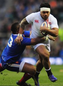 Mathieu Bastareaud Manu Tuilagi England v France