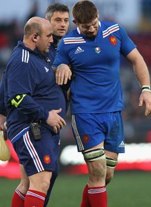 SKY_MOBILE Pascal Pape France injured v Italy