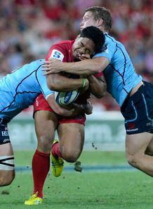 Reds centre Ben Tapuai taking it up
