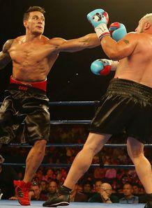 Sonny Bill Williams throwing punch at Frans Botha