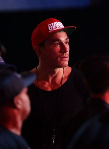 Sonny Bill Williams wearing red cap