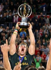 South Africa s Wiaan Liebenberg holds the trophy IRB Junior World Championship 2012