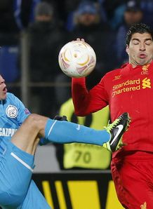 Europa League: Liverpool beaten 2-0 at Zenit St Petersburg