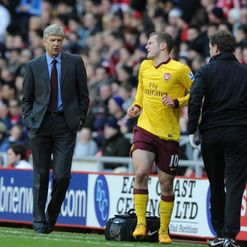 Wilshere: Limped off injured