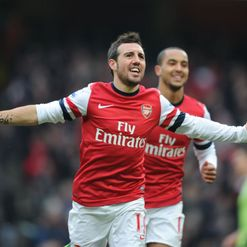 Cazorla: Fires home both goals