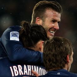 Beckham: Delighted with debut