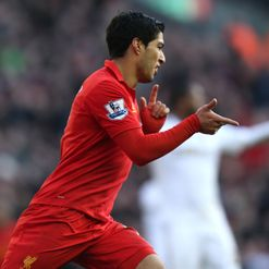 Luis Suarez: Branded the player of the season by Rodgers