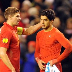 Steven Gerrard and Luis Suarez: Down and out