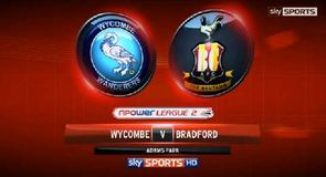 Wycombe 0-3 Bradford City
