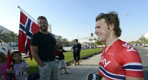 Edvald Boasson Hagen had to settle for sixth after a hectic sprint