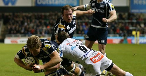 Daniel Braid Sale Sharks v Exeter Chiefs Aviva Premiership Salford City Stadium