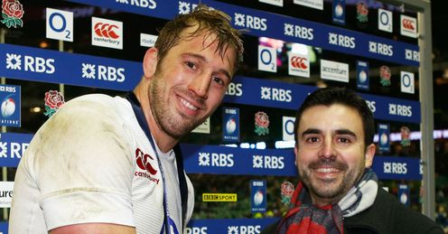 Captain Chris Robshaw of England receives the man of the match award