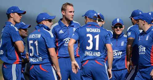 England celeb Stuart Broad v New Zealand XI