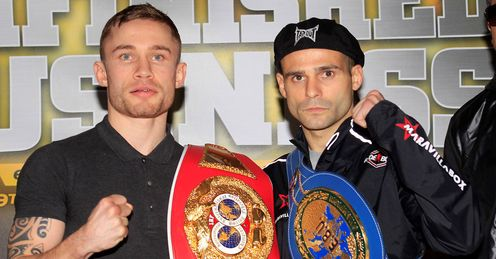 Ready: Frampton (left) can take the European title from Martinez, says Jim