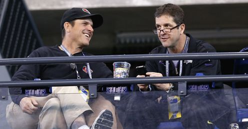 The Harbaugh brothers enjoyed a Thanksgiving clash