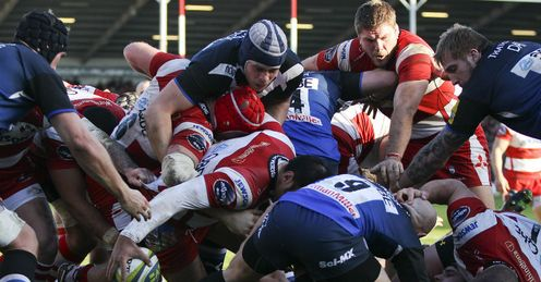 Huia Edmonds try Gloucester v Bath