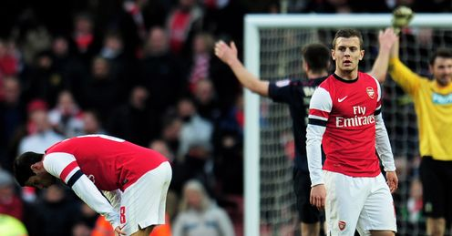 Arteta & Wilshere: midfielders have key job to do to avoid repeat of Blackburn defeat
