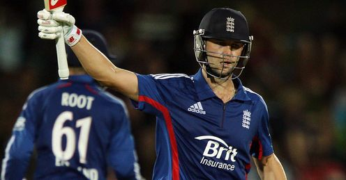 Trott: helped guide England home in second ODI