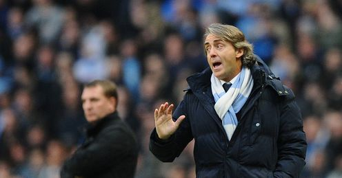 Manchester City v Liverpool Roberto Mancini