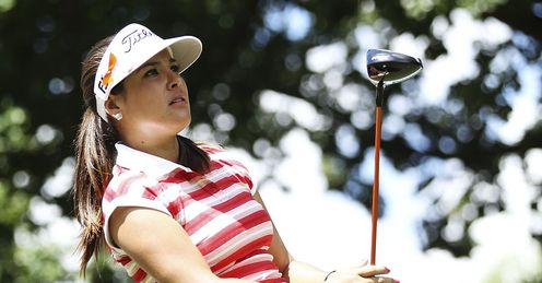 Mariajo Uribe: Second round leader