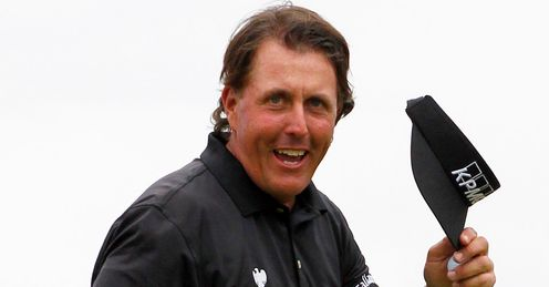 Phil Mickelson - on his way to victory last week